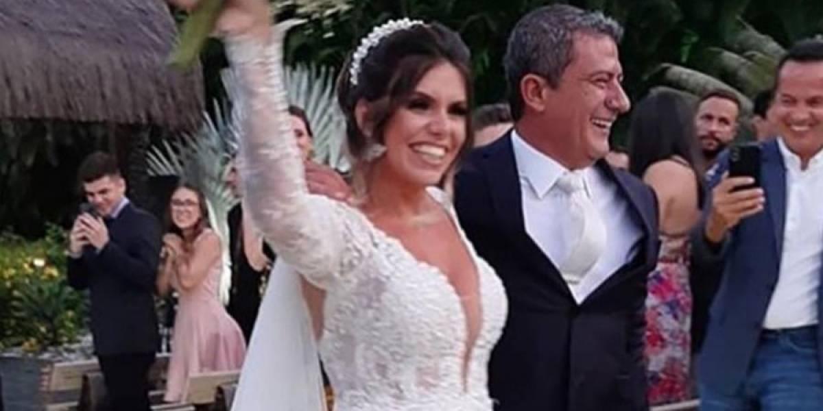 Sem a presença de Ana Maria Braga, 'Louro José' se casa no Rio de Janeiro