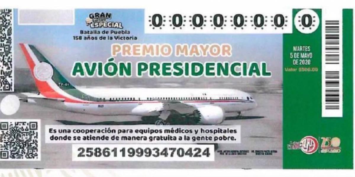 Morena busca legalizar rifa de avión presidencial