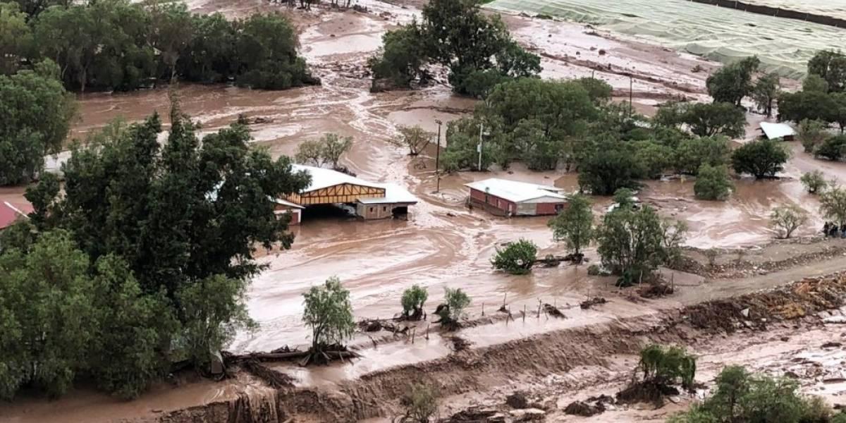 Una persona fallecida y cinco desaparecidas tras intensas lluvias en Región de Atacama