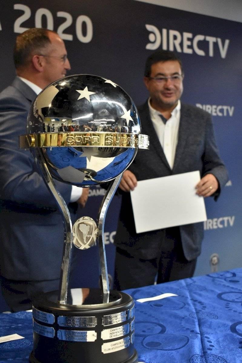 Santiago Morales, gerente del Independiente del Valle y Fernando Ferro Albornoz, presidente ejecutivo de DIRECT