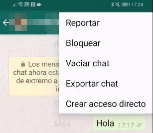 WhatsApp Exportar Chat