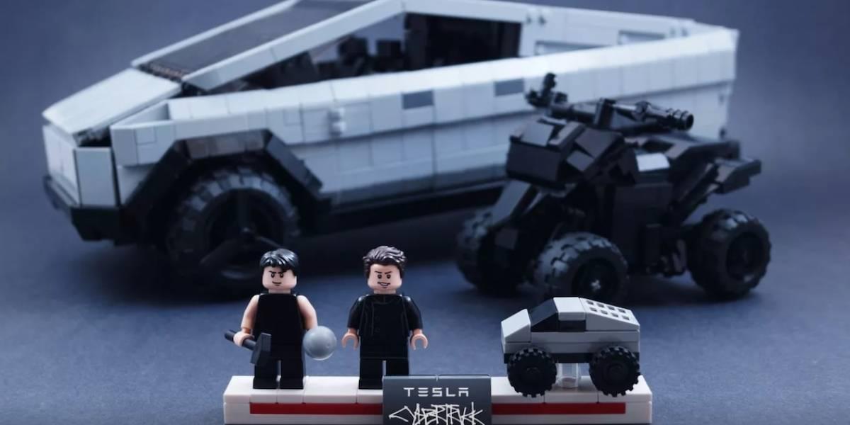 Tesla Cybertruck Lego podría ser una realidad, ¡con un Elon Musk en miniatura!