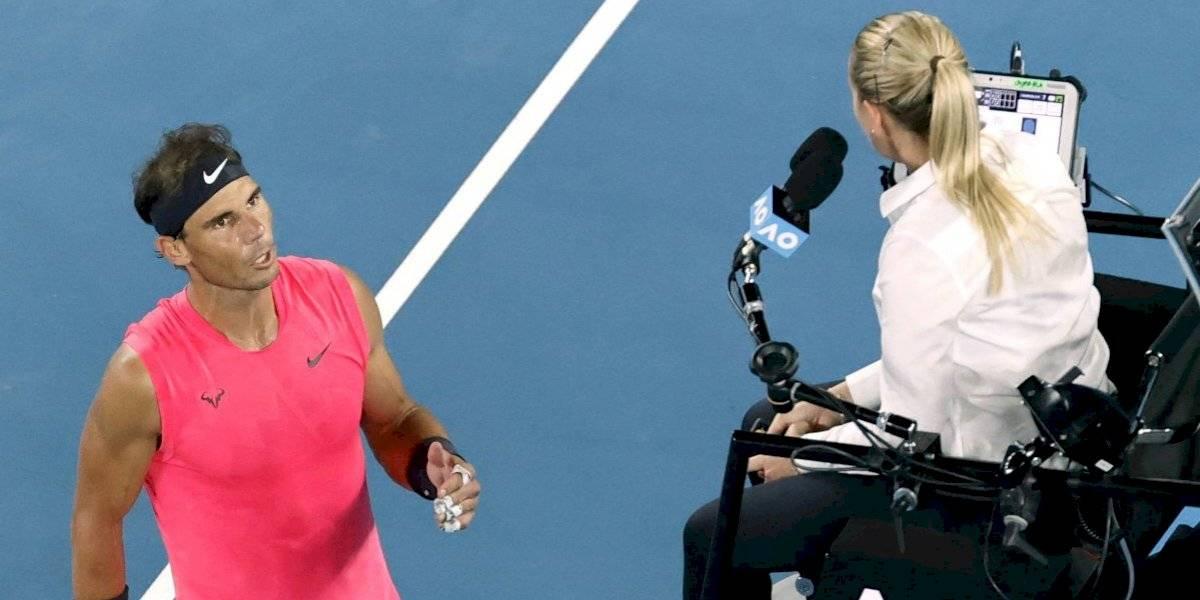 """""""No te gusta el buen tenis"""": La furia de Rafael Nadal contra jueza de silla tras recibir polémico warning"""
