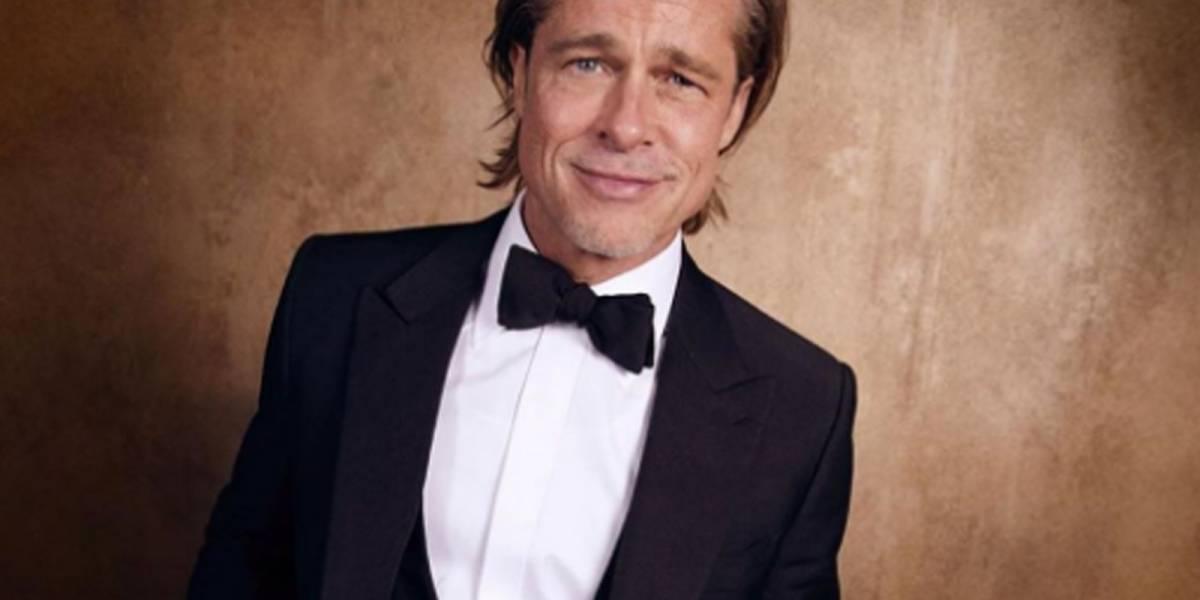 Brad Pitt causa sensación al lucir gafete con su nombre en el almuerzo de los Oscar
