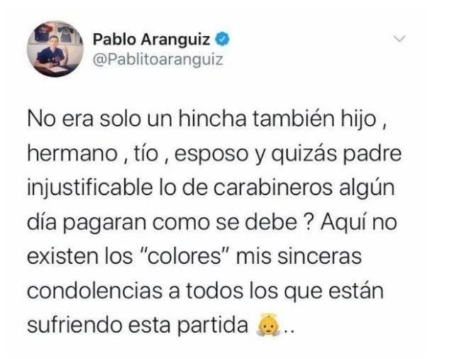 Twitter Pablo Aránguiz