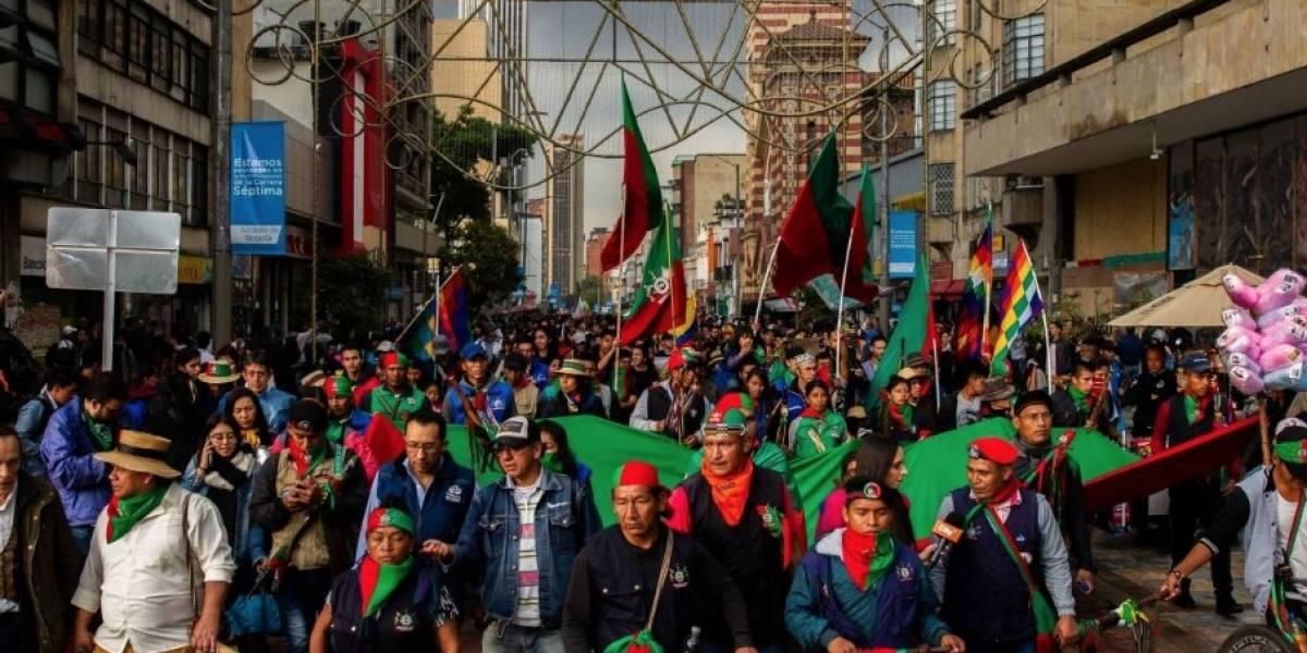 Los sitios donde podría quedarse la minga indígena en Bogotá