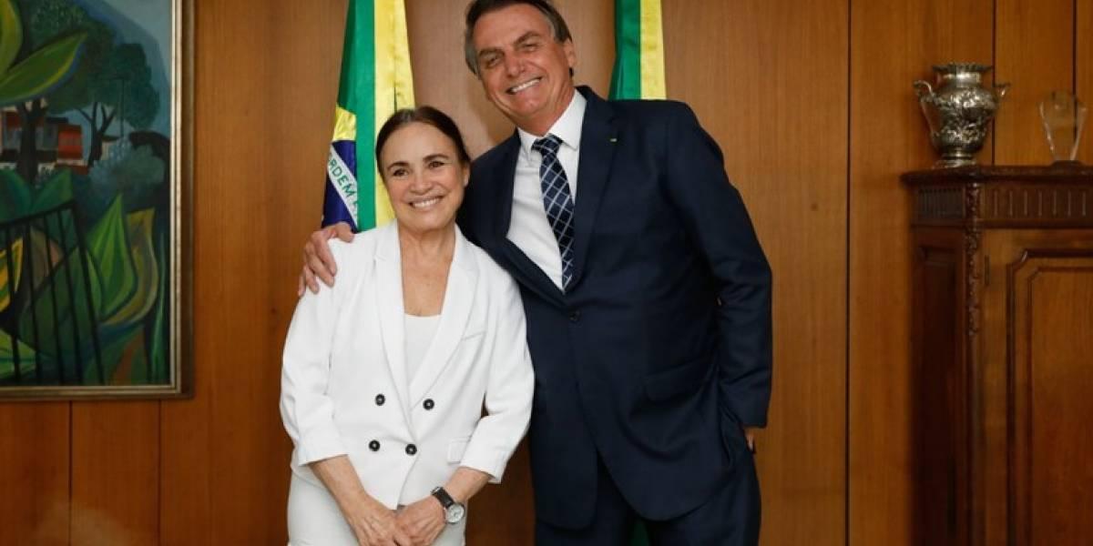 Regina Duarte apoia Bolsonaro após pronunciamento polêmico