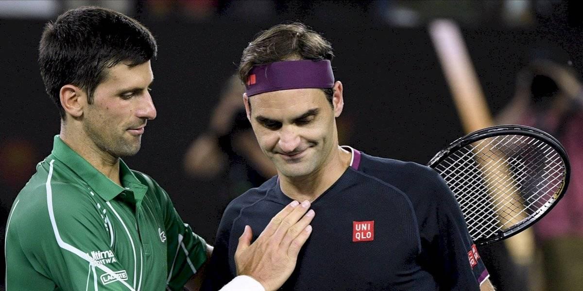 """Federer genera admiración hasta cuando pierde: """"Es increíble que nunca se haya retirado de un partido"""""""