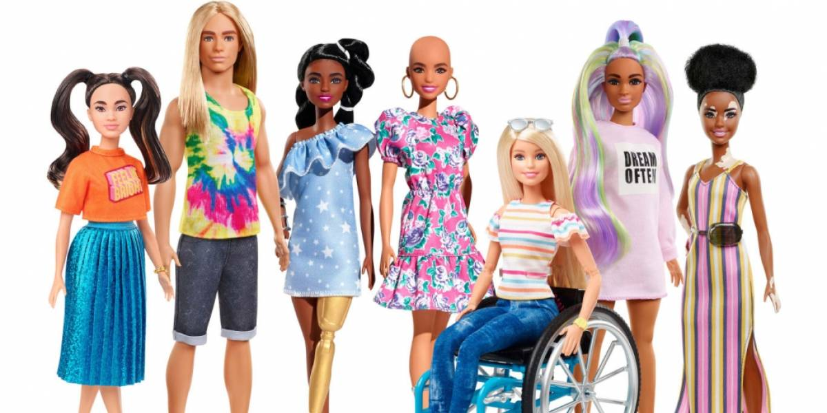 Barbie Fashionista agrega muñecas con vitiligo y sin pelo a su línea de productos