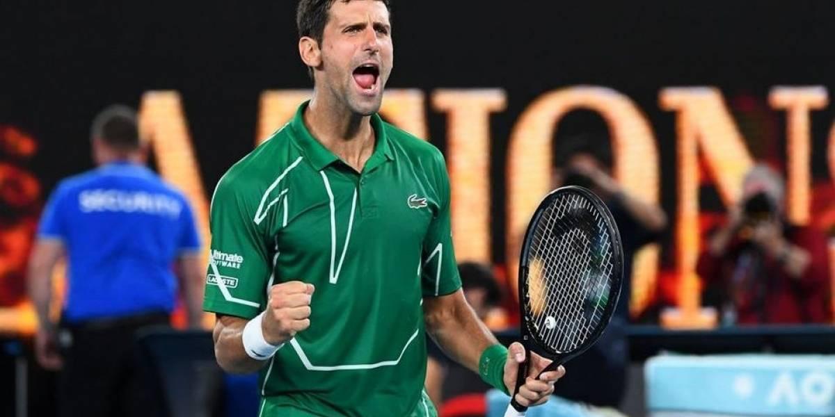 Un bello atardecer vio la clasificación de Novak Djokovic a la final del Abierto de Australia