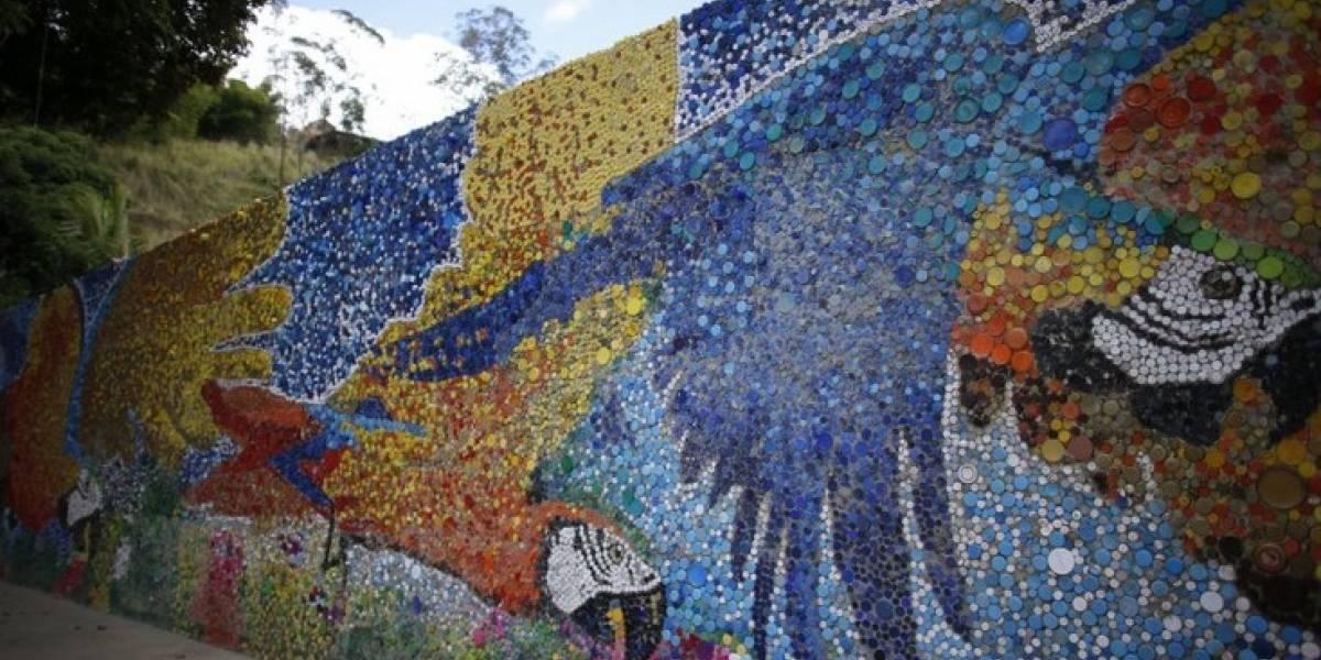 Mural de artista venezolano estimula la conciencia ecológica