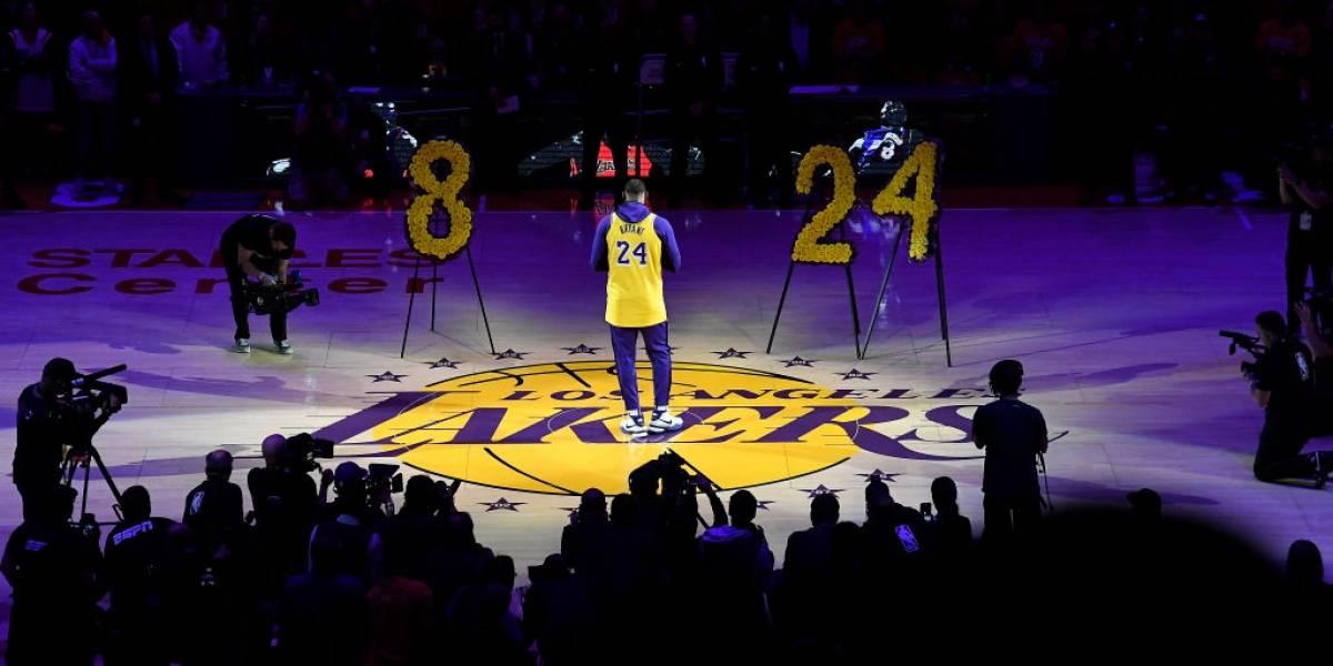 Los Angeles Lakers realizaron un sentido homenaje en su primer partido desde la muerte de Kobe Bryant