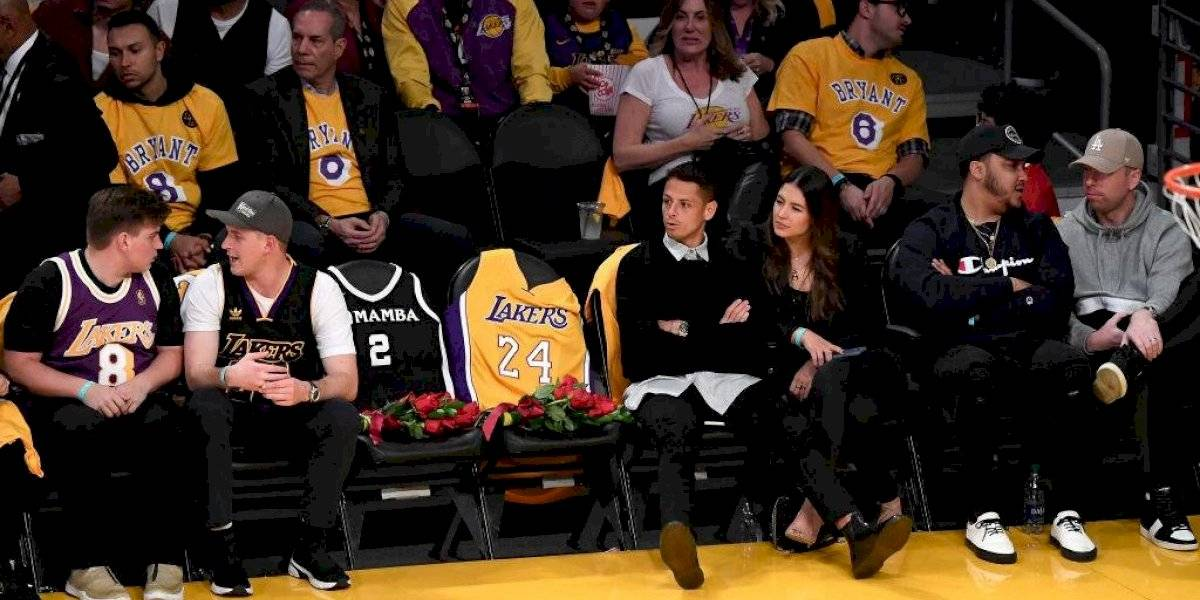 Chicharito estuvo presente en el homenaje a Kobe Bryant
