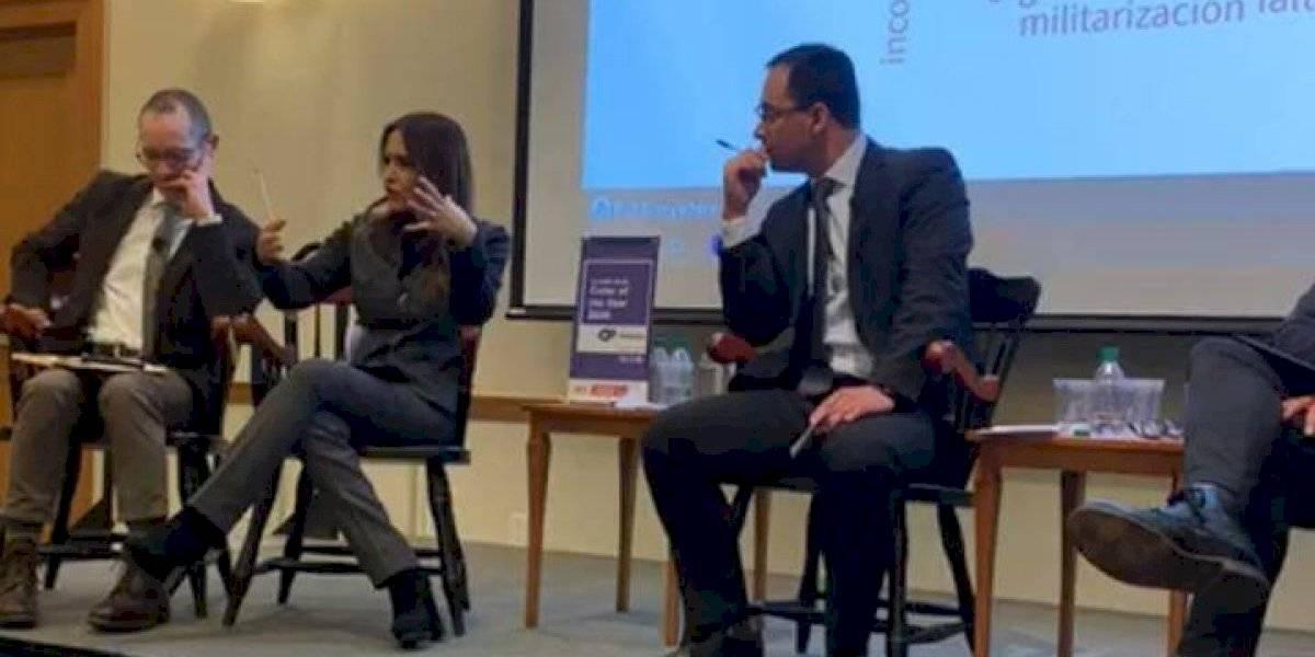 Alcaldesa de Nuevo León presenta modelo de seguridad en Harvard