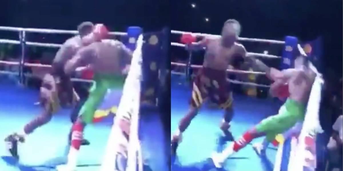 VIDEO: Boxeador manda a rival al hospital con tremendo nocaut