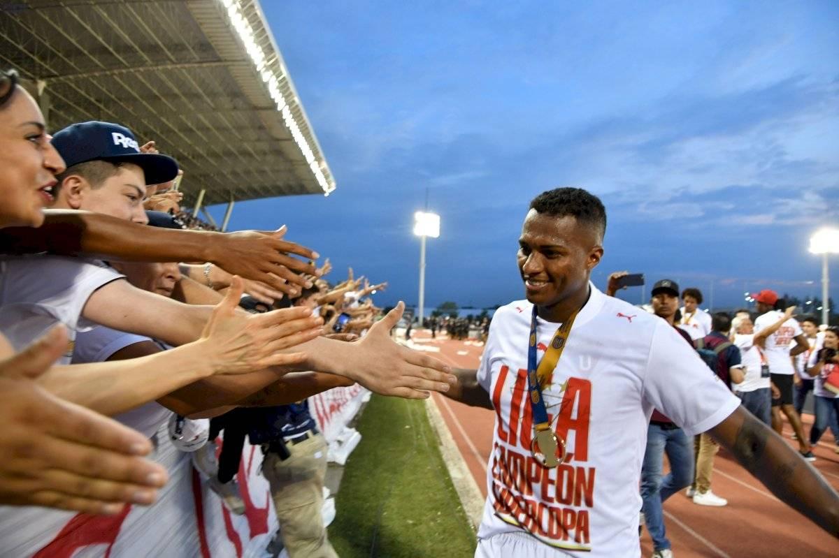 El mensaje que dedicó Antonio Valencia a la hinchada de Liga de Quito API