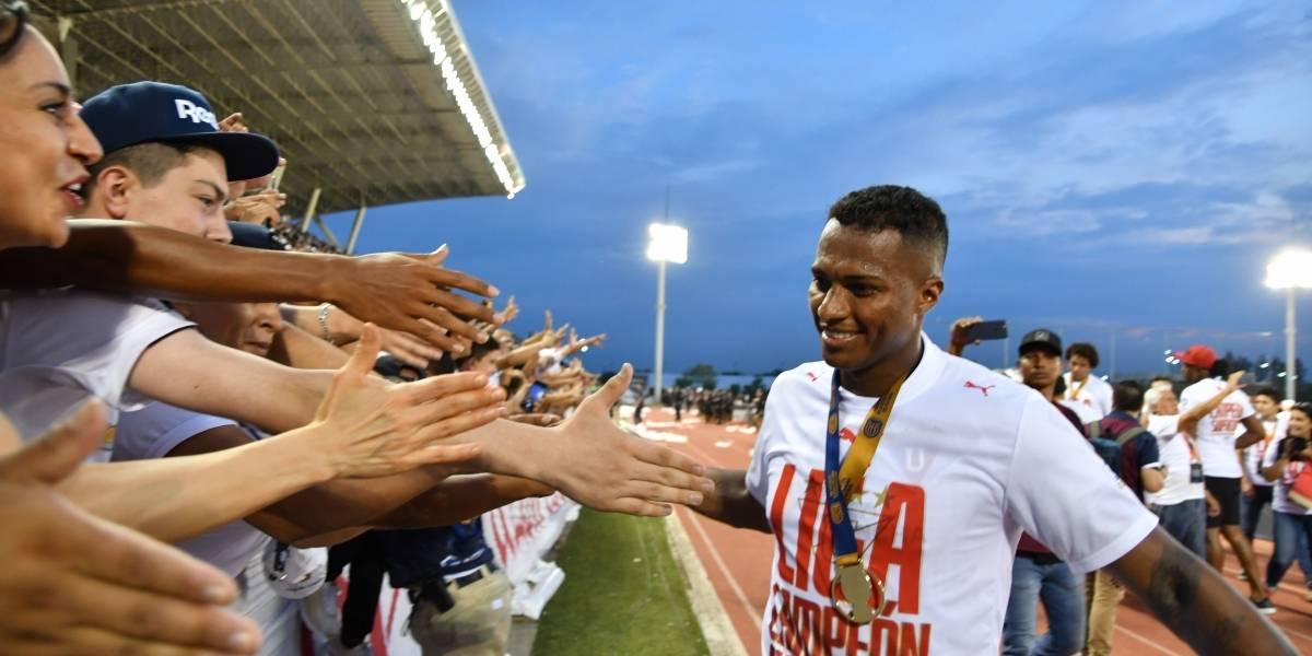 El mensaje que dedicó Antonio Valencia a la hinchada de Liga de Quito