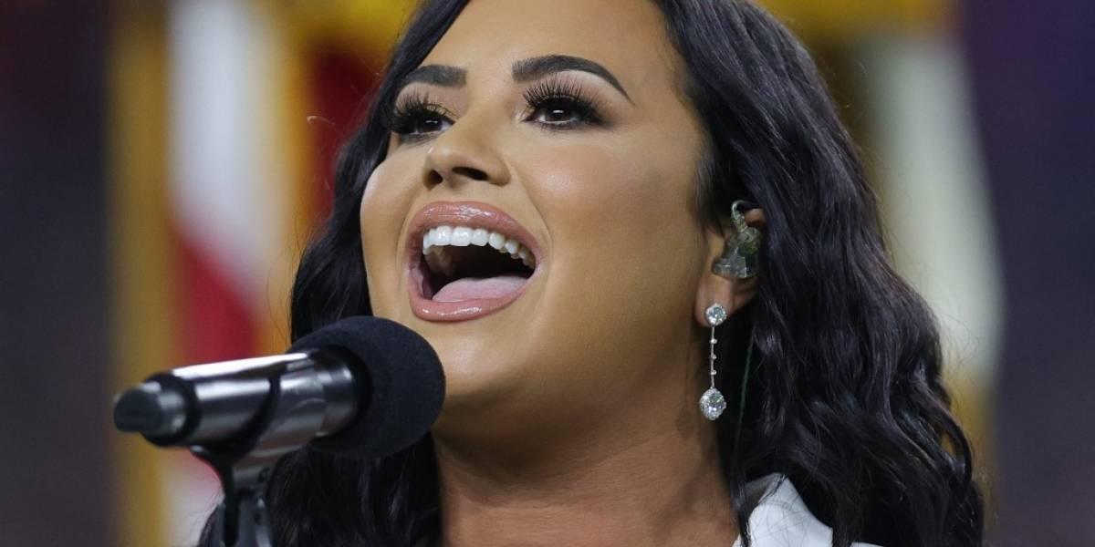 VIDEO. Demi Lovato deslumbra en el Super Bowl con su belleza y elegancia
