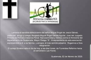 Fallece papá del juez Miguel Ángel Gálvez