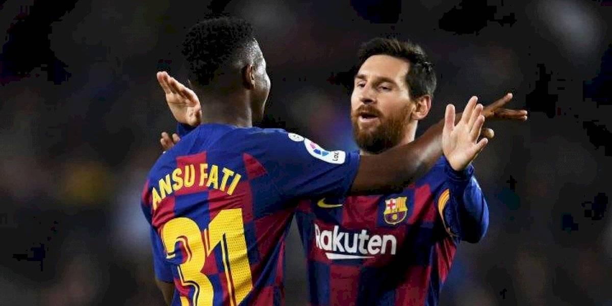 Messi y Ansu Fati mantienen al Barcelona con vida en la Liga