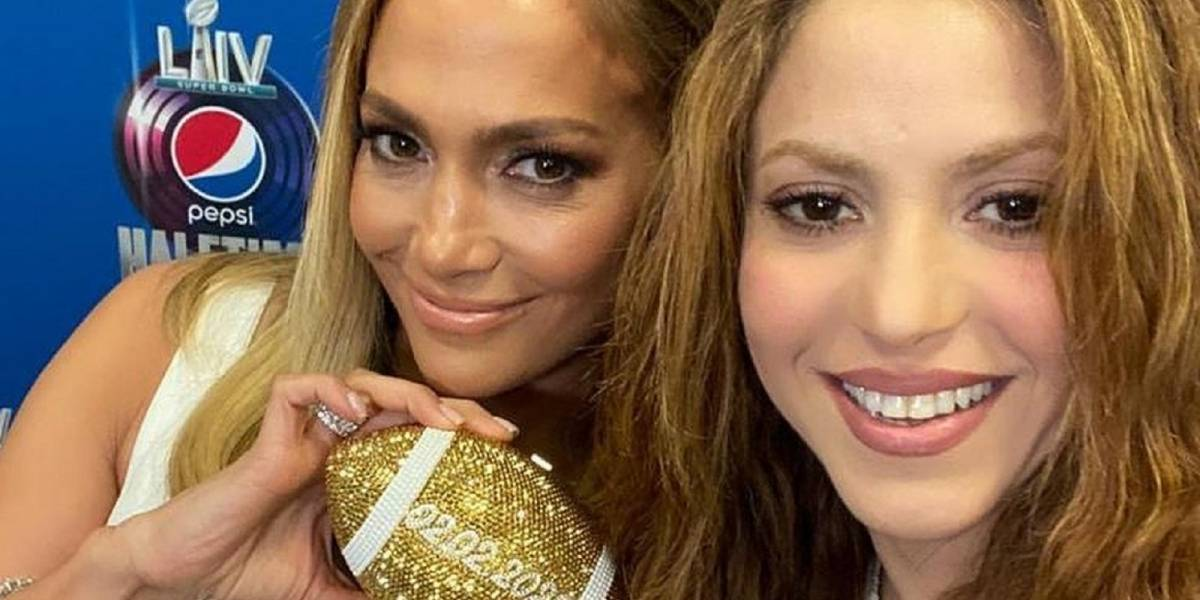 La emotiva foto de Jennifer López y Shakira horas antes del Super Bowl