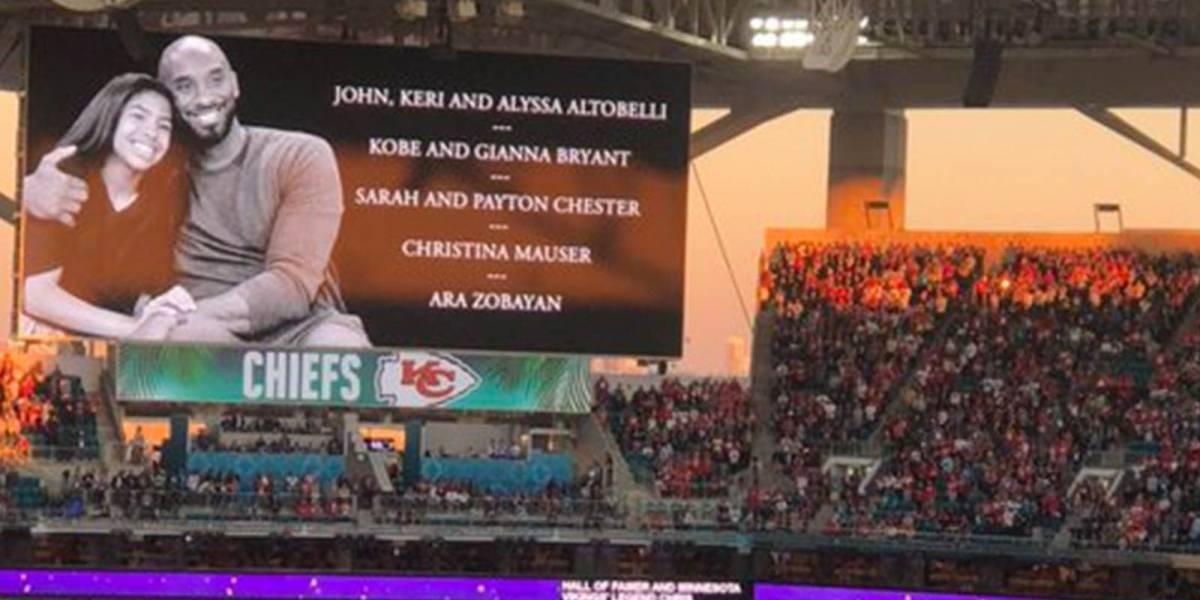 Rinden conmovedor homenaje a Kobe Bryant y a su hija Gigi en el Super Bowl