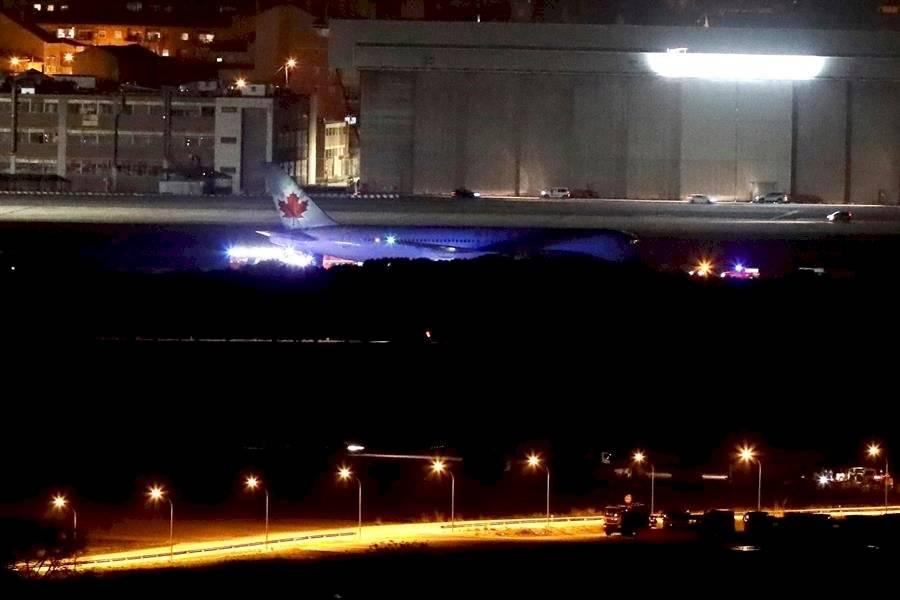 Avión aterrizaje de emergencia