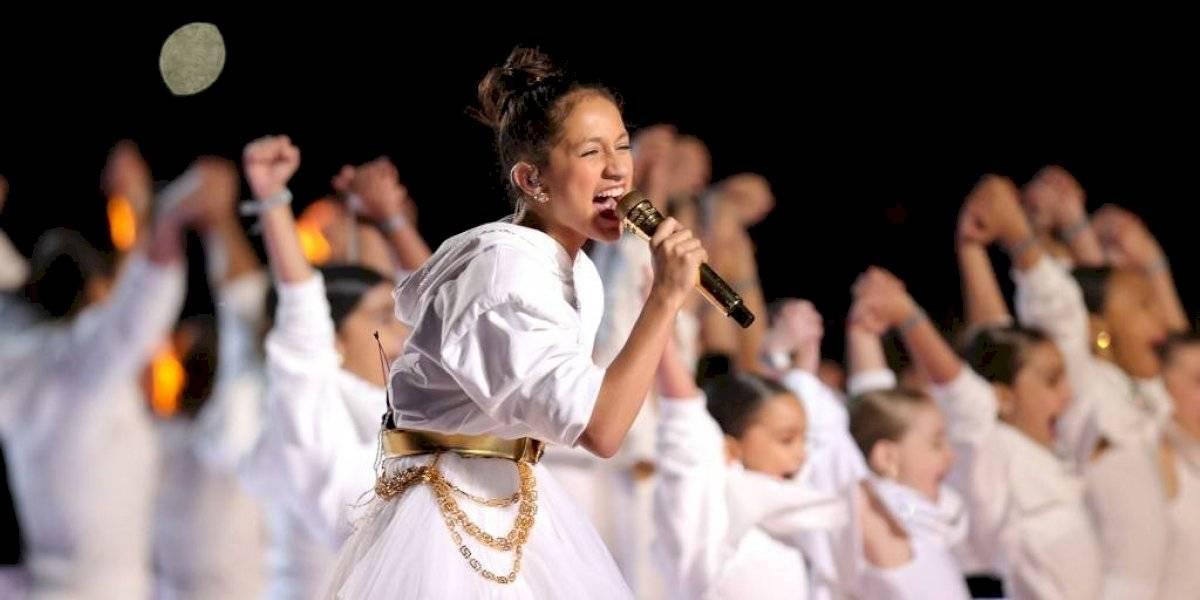 VIDEO. La hija de JLo y Marc Anthony debuta como cantante en el Super Bowl