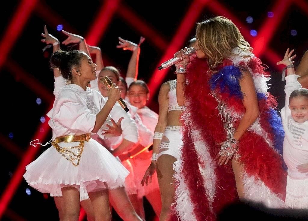 Emme, hija de Marc Anthony y Jennifer López debuta en el Super Bowl