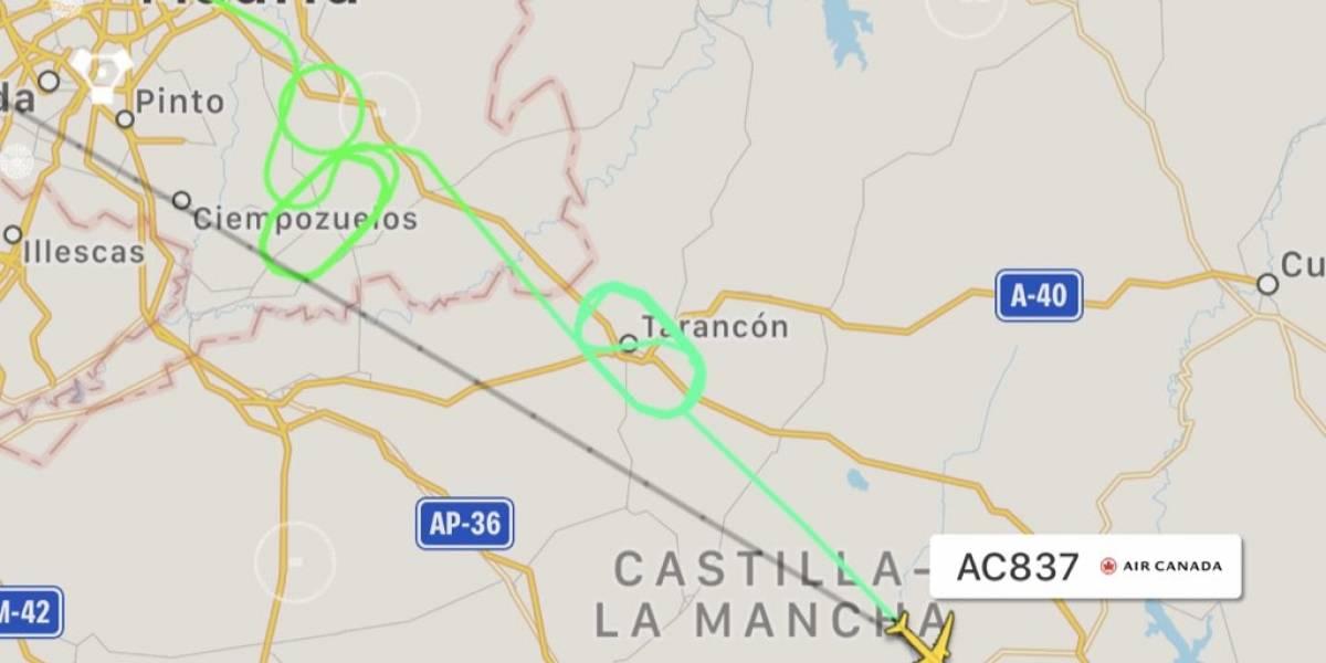 AC837: Avião com falha técnica dá voltas no céu de Madrid aguardando pouso emergencial
