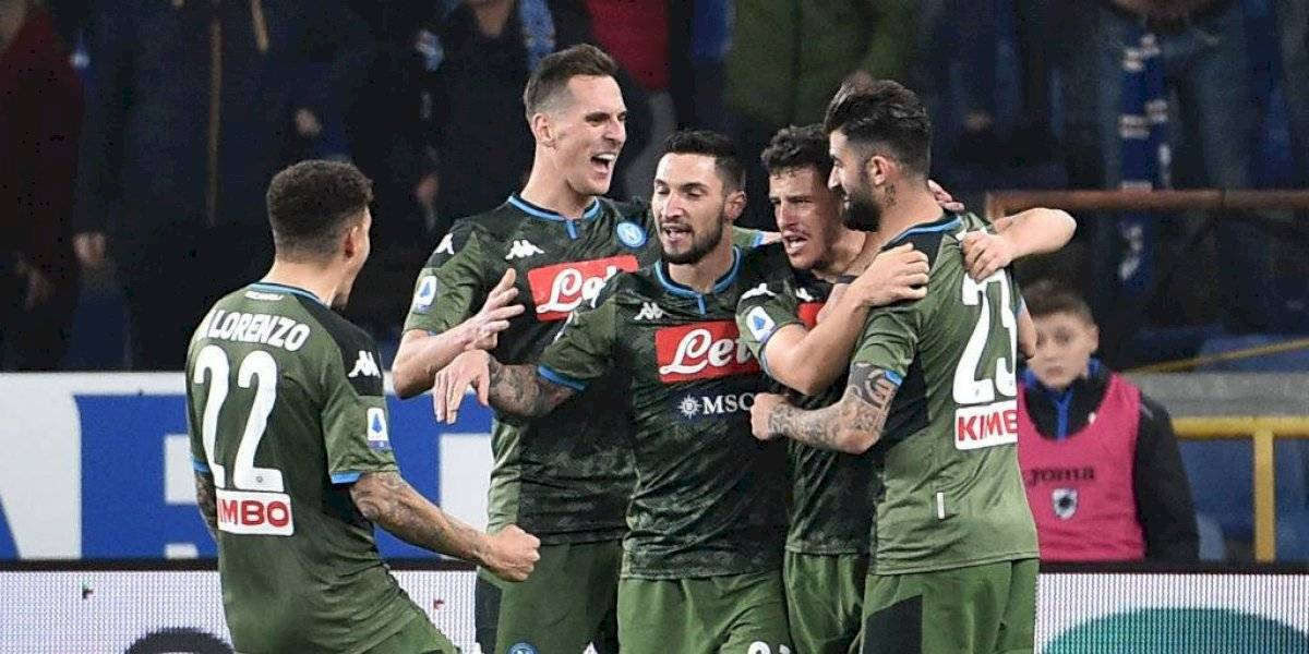 Napoli, sin Lozano, vence a Sampdoria y se acerca a Europa