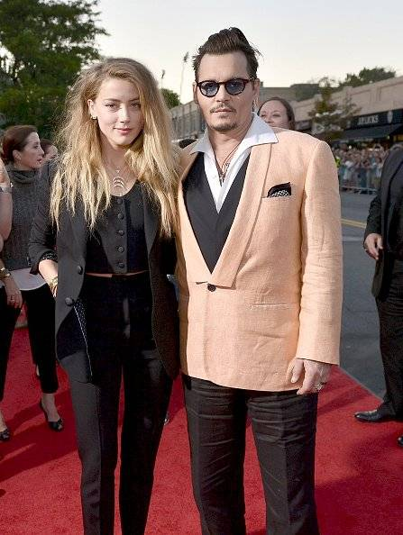 Johnny Depp junto a su exesposa Amber Heard