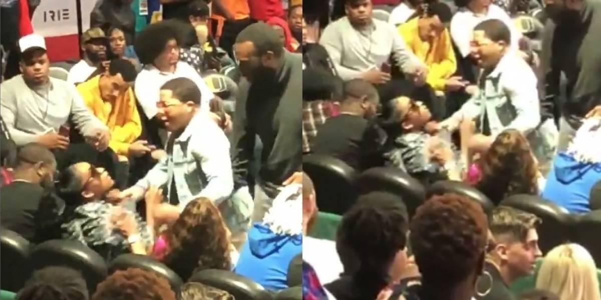 VIDEO: Campeón del mundo es captado ahorcando a su mujer en un evento
