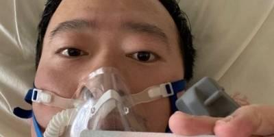 Li Wenliang publicó en las redes sociales una foto suya desde su cama en el hospital el 31 de enero