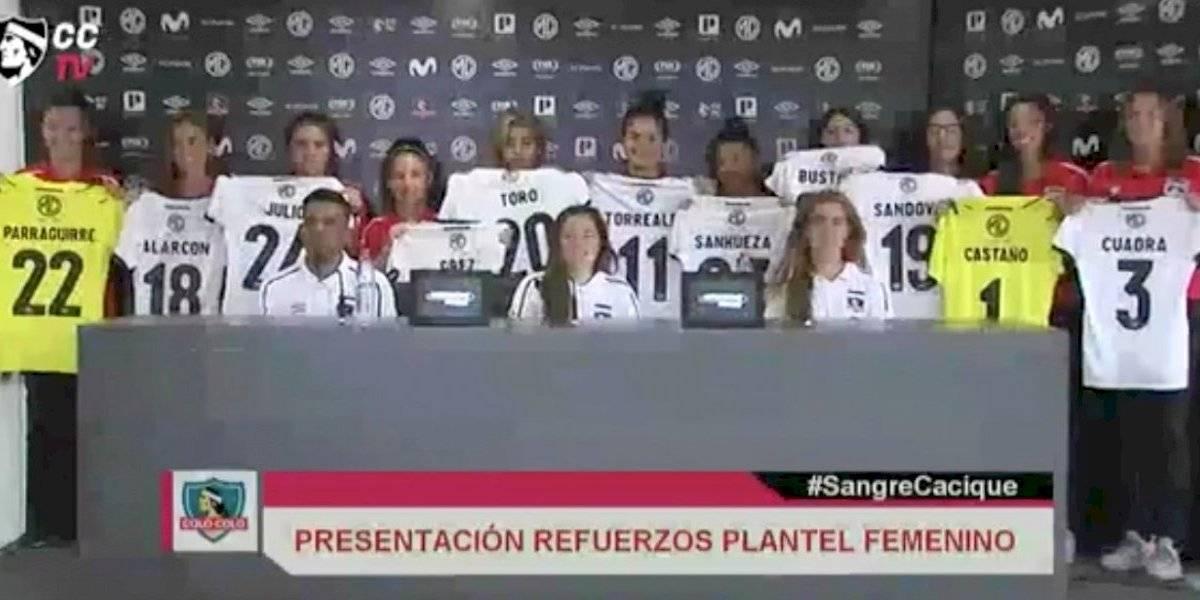 Colo Colo femenino presentó refuerzos y tendrá su propia Noche Alba ante Boca Juniors