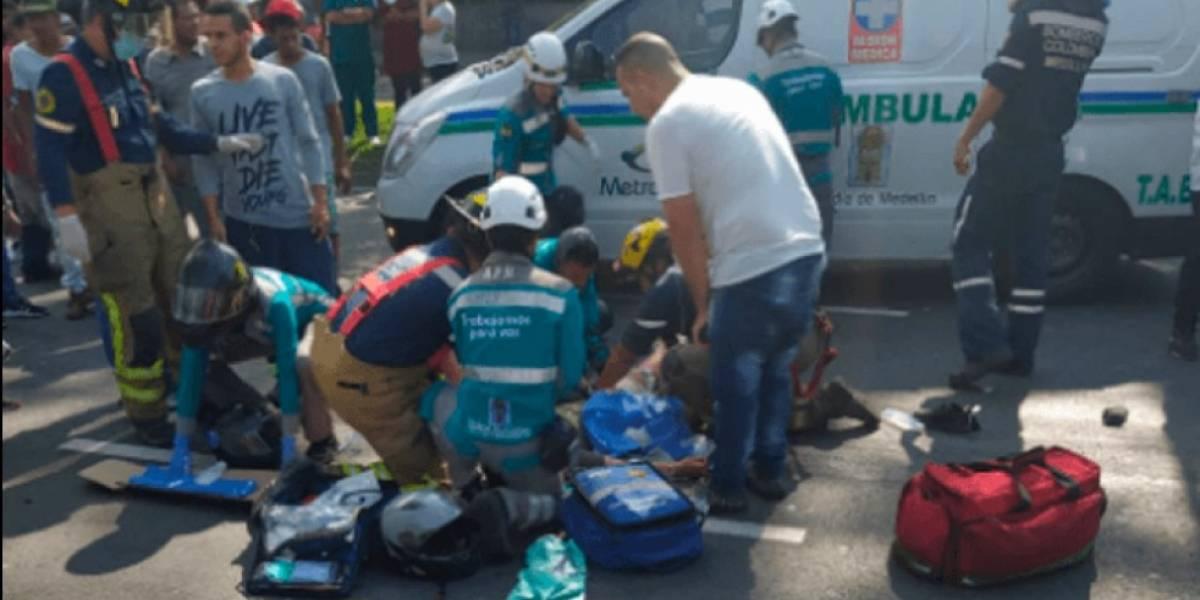 Tres motociclistas murieron y un niño quedó herido en accidentes en la Minorista de Medellín
