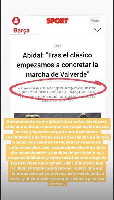 Respuesta de Messi a Abidal