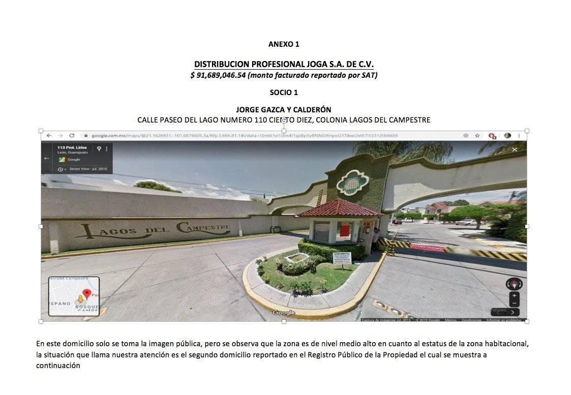 Domicilios fiscales de una de las empresas que recibió 91 millones de pesos.
