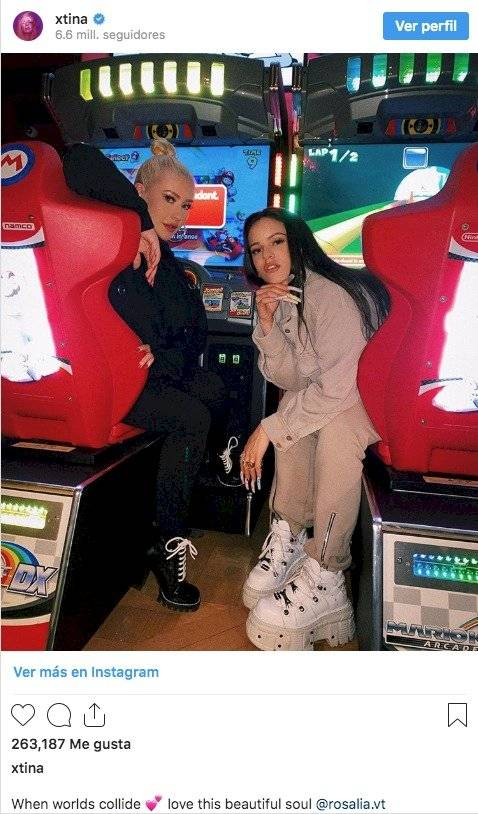 Rosalía y Christina Aguilera