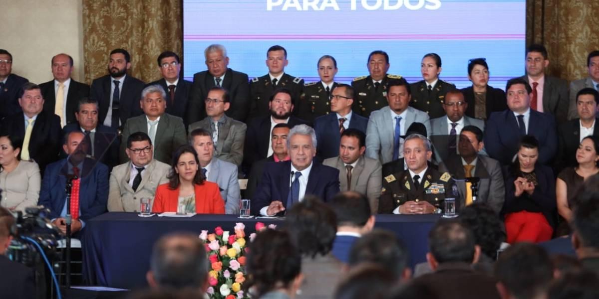Lenín Moreno pide a la Asamblea reformar la Ley de Movilidad Humana