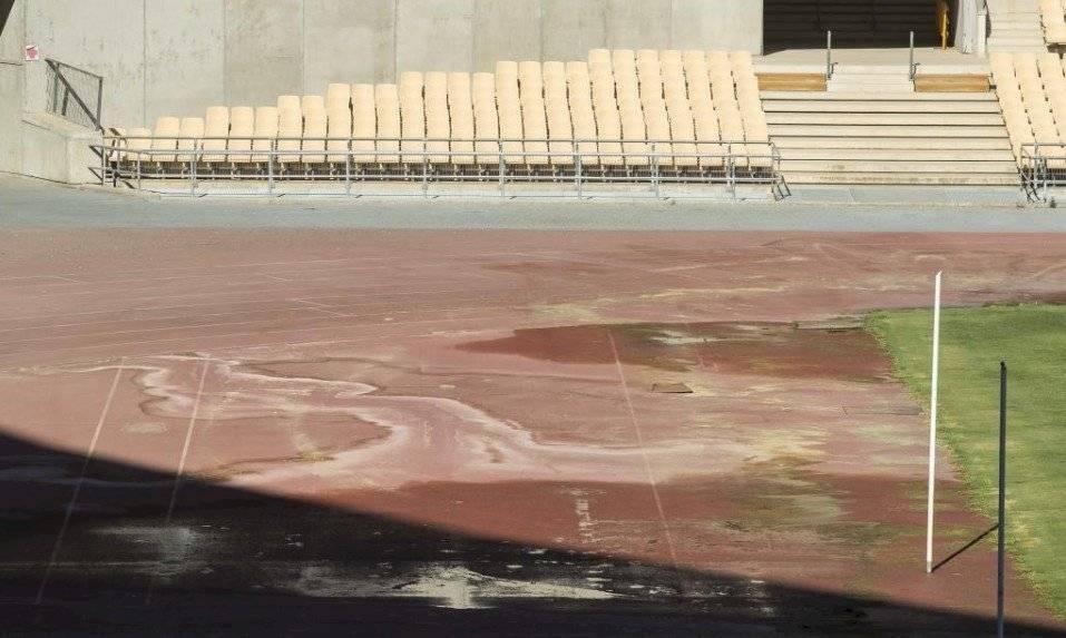 Pista de atletismo del estadio de la Cartuja