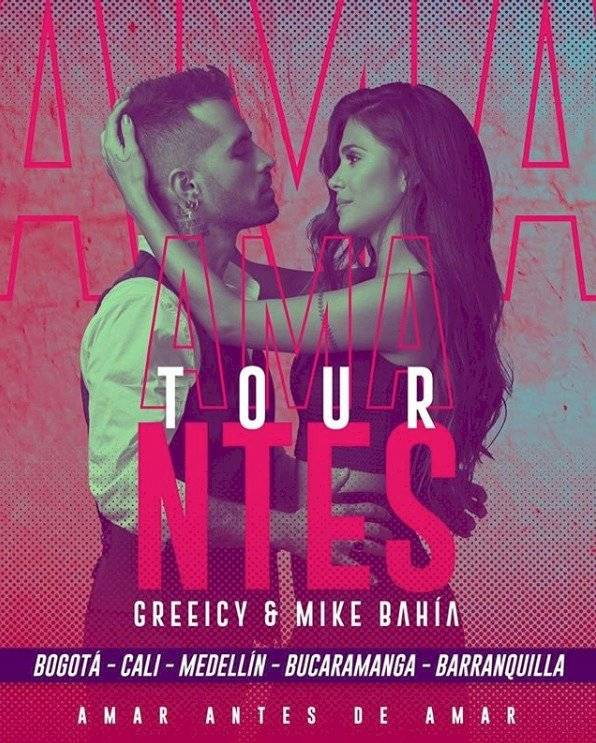Greeicy y Mike Bahia en tour