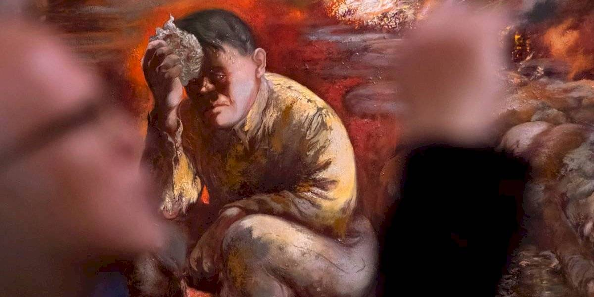"""Un monstruo fascista o una bestia apocalíptica"": museo alemán expone pintura que muestra a Hitler como Caín"