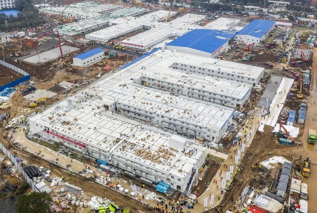 Hospital chino construido en tiempo récord