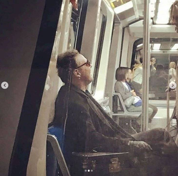 Luis Miguel en el Metro