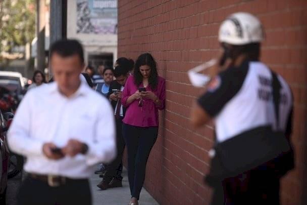 Simulacro de terremoto en la capital. Foto: Edwin Bercián