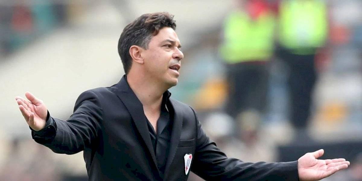 Marcelo Gallardo abandona práctica de River Plate para ser internado