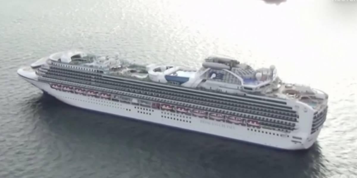 Diez pasajeros de crucero en cuarentena en Japón dan positivo a coronavirus