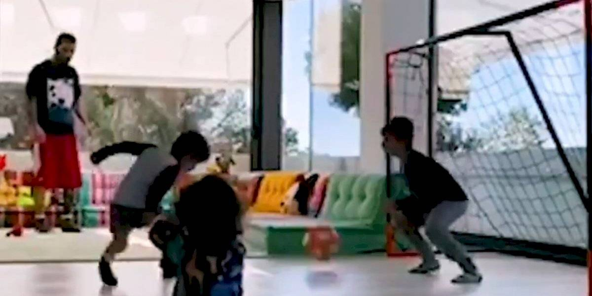 Lionel Messi ya 'entrena' a sus hijos Thiago y Mateo
