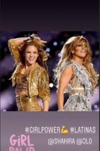 Así reaccionó la esposa de Messi ante la presentación de Shakira y Jennifer Lopez en el Super Bowl